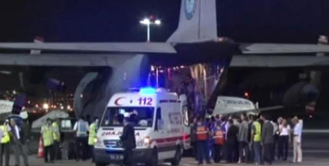 Filistinli yaralılar İstanbul'a getirildi