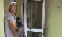 Suriyelilerin kaldığı sitede yangın çıktı