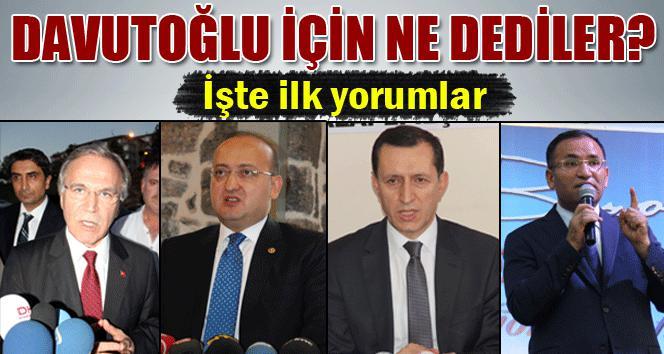 Siyasilerden Ahmet Davutoğlu yorumu
