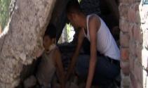 Beton duvarın altında kalan çocuk böyle kurtarıldı