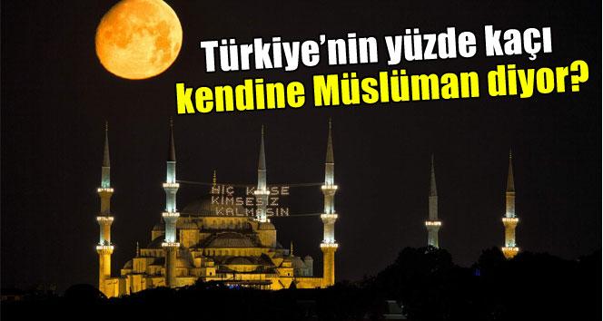 Türkiye'nin yüzde kaçı kendine Müslüman diyor ?