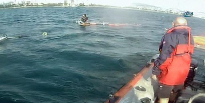 Sörfçüyü kurtaran ekipler, teçhizatlara dikkat çekti