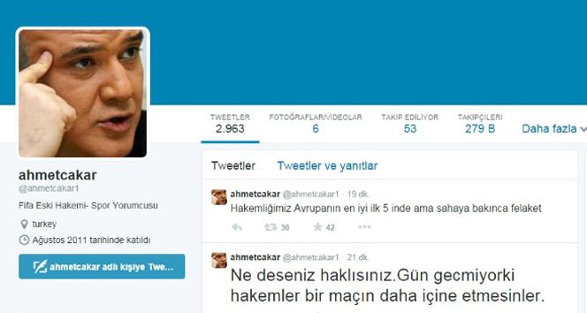 Ahmet Çakar hakemlere ateş püskürdü