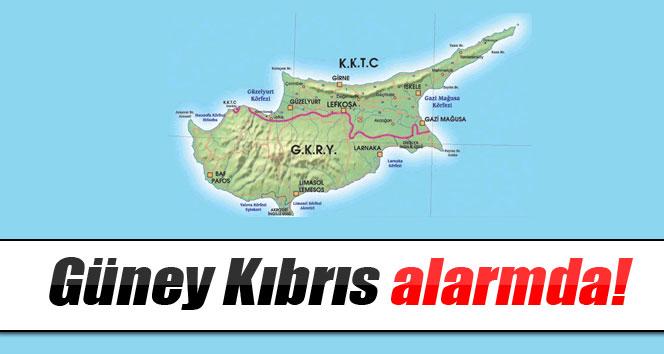 Güney Kıbrıs alarmda