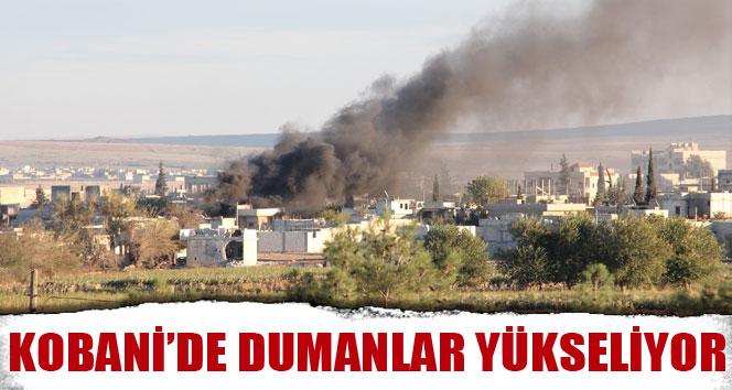 Kobani'de dumanlar yükseliyor
