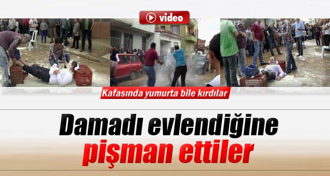 Bursa'da damadı evlendiğine pişman ettiler