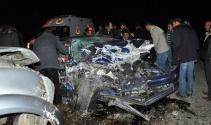 Adıyaman'da kaza: 1 ölü, 2'si ağır 3 yaralı