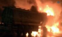 Tanker yangını korkuttu
