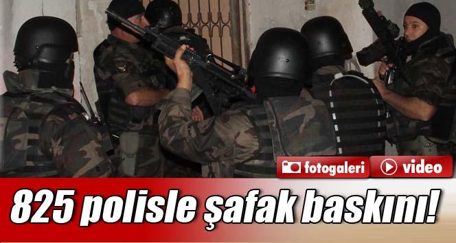 825 polisle şafak baskını!