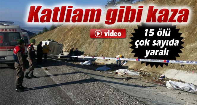 Isparta'da katliam gibi kaza: 15 ölü, 27 yaralı