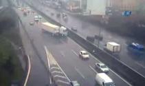 Maltepe'deki TIR kazası kamerada