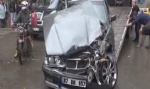 Yeni aldığı otomobille kaza yaptı: 1 yaralı