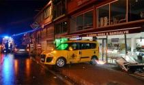 Yoldan çıkan taksi iş yerine girdi: 1 yaralı