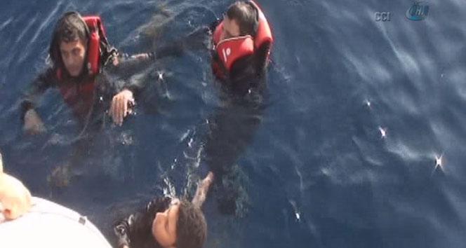 Sahil güvenlik olası bir faciayı böyle engelledi