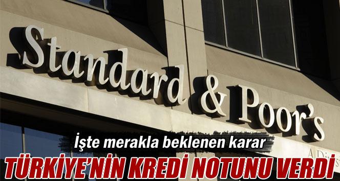 Standart&Poor's Türkiye'nin kredi notunu teyit etti