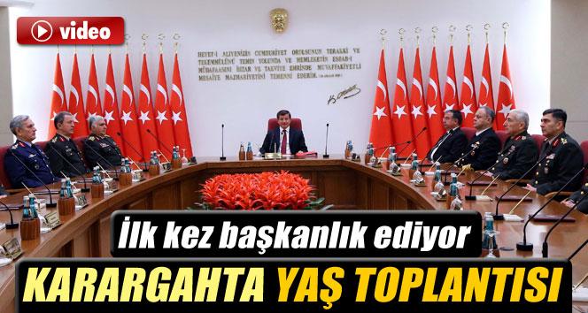 Davutoğlu, Yüksek Askeri Şura'ya ilk kez başkanlık yaptı