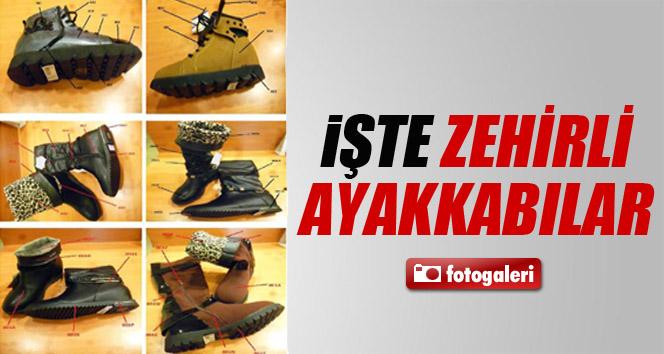 İşte o zehirli ayakkabılar