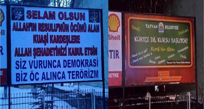 Bitlis'te tartışmalı afiş kaldırıldıafiş,Bitlis,kaldırılma