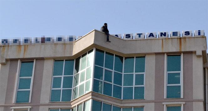 İntihar şovmeni bu kez Keşan'ı karıştırdı Edirne,hastane çatısı,intihar şovmeni,keşan