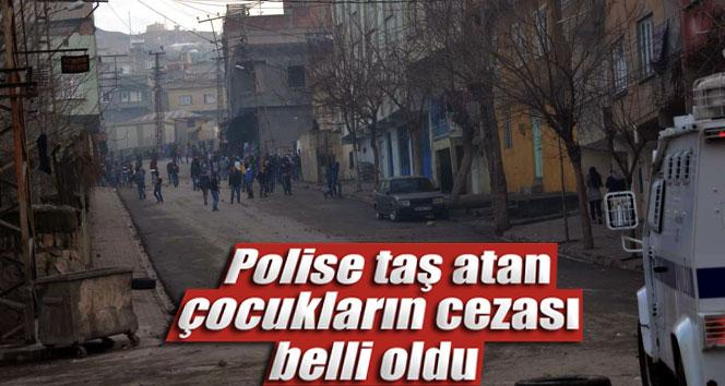 Polise taş atan çocukların cezası belli oldu