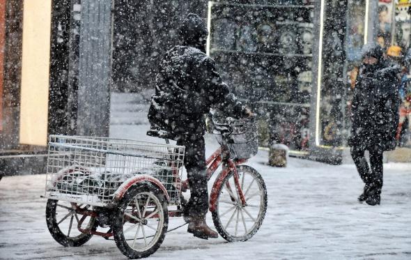 İstanbul'dan eşsiz kar manzaraları!