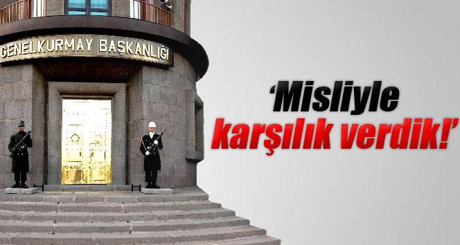 Türk topraklarına düşen roket mermisine karşılık verildi